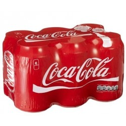 SIX PACK BEBIDA LATA COCA COLA