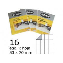 ETIQUETA 53 X 70 16...