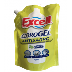 CLORO GEL 1LT LIMON  EXCELL...