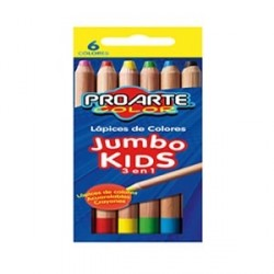 LAPICES COLOR JUMBO 6 COL...